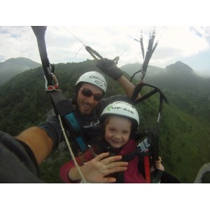 Le vol Tandem enfant de 4 à 11 ans.